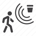 detector, guard, home, motion, person, security, surveillance icon