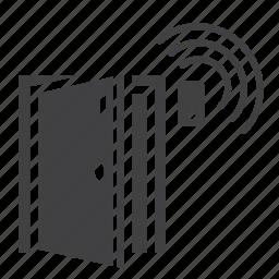 access, alarm, door, home, protection, security, sensor icon