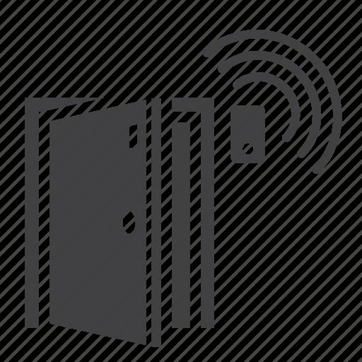 Door, alarm, access, protection, home, security, sensor icon