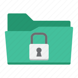 confidential, data, document, folder, padlock, secure, security icon