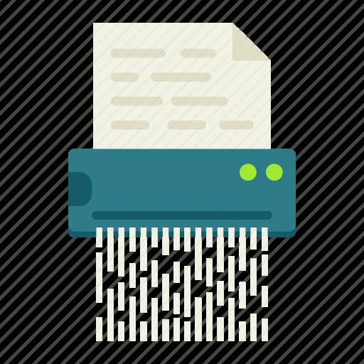 confidential, destroy, document, file, secret, security, shredder icon