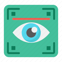 biometric, eye, iris, recognition, scan, scanner, security icon