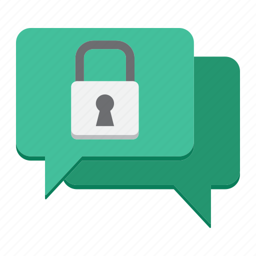 Bubble, chat, encrypted, encryption, messaging, protection, security icon - Download on Iconfinder