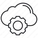 cloud, gear, services icon