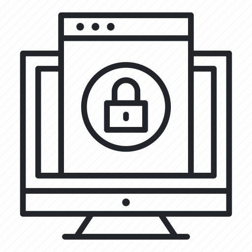 encryption, file, lcd, lock icon