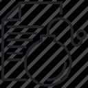 bomb, letter, logic icon