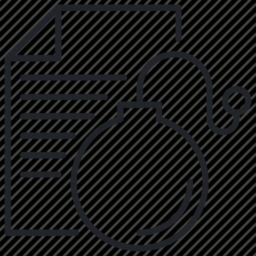 Bomb, letter, logic icon - Download on Iconfinder