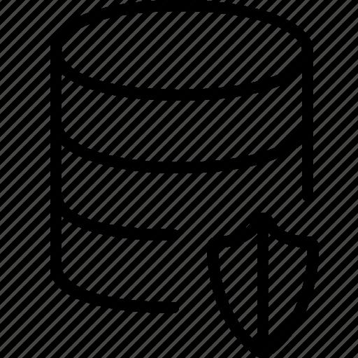 antivirus, back end, data, database, files, protection, shield icon