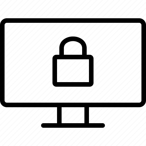 locked, password, pc, protection, safety, secure, security icon