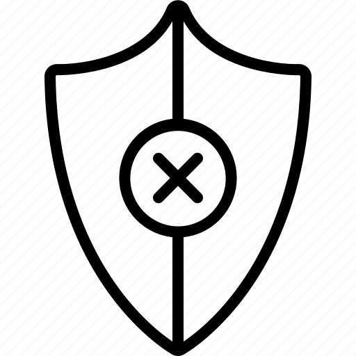 antivirus, defence, denied, guard, protection, safety, shield icon