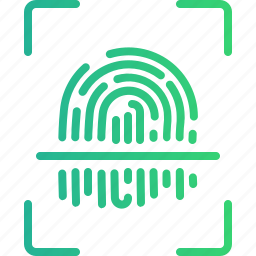 access, fingerprint, identity, privacy, protection, scan, touch icon