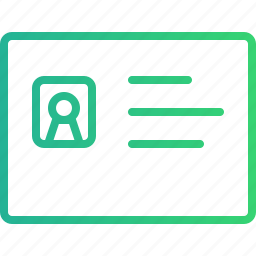 account, authentication, id, identification, identity, profile, verification icon