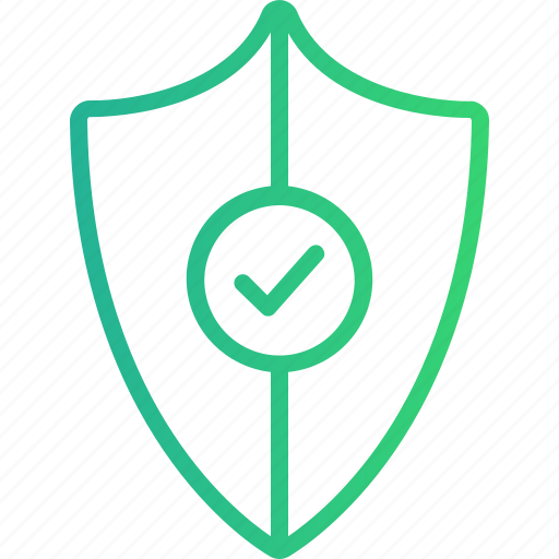 antivirus, approved, defence, guard, protection, safety, shield icon