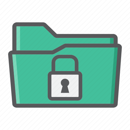 Confidential, data, document, folder, padlock, secure, security icon - Download on Iconfinder