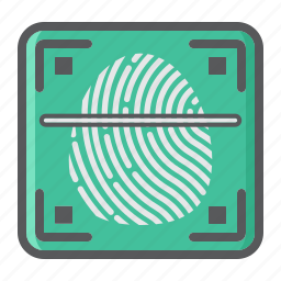 biometric, fingerprint, id, key, privacy, scanner, security icon