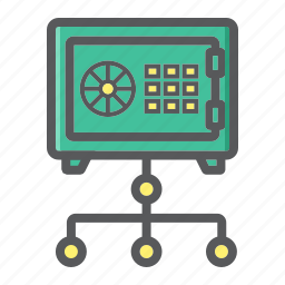 business, lock, network, safe, security, strongbox, valut icon