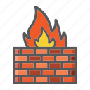 brick, communication, data, fire, firewall, internet, wall icon
