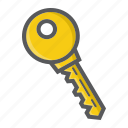 access, door, key, password, secret, security, unlock icon