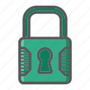 key, lock, padlock, password, safe, security, web icon