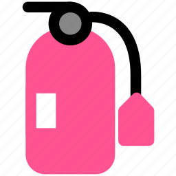 danger, fire, fire extinguisher icon