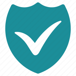 check, confirm, security, shield, success, valid, validation icon