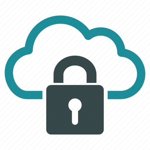 cloud, connection, lock, locked, safe, safety, security icon