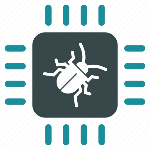 bug, chip, digital, hardware, insect, processor, technology icon