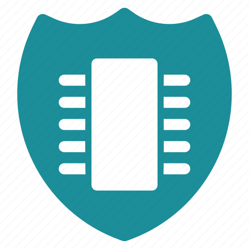 chip, lock, password, safety, security, shield, technology icon