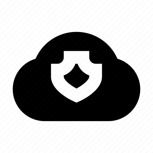 cloud, protect, protection, secure, security, shield icon