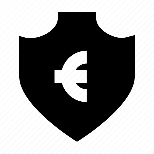 euro, protect, protection, secure, security, shield icon