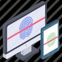 biometric access control, biometric authorization, biometric devices, biometric verification, fingerprint scanner icon