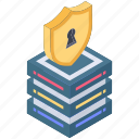 data protection, secure data, server login, server passcode, server protection icon