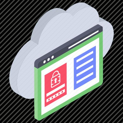 cloud computing, cloud hosting, cloud web protection, cloud webpage, cloud website security icon