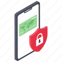 app lock, online payment, payment security, safe payment, secure transaction icon