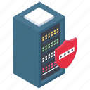protected data, secure data, server antivirus, server protection, server security icon