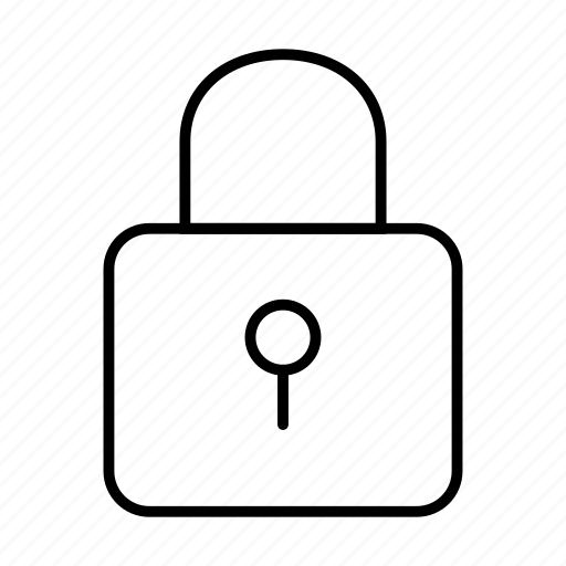 lock, safety, security, square icon
