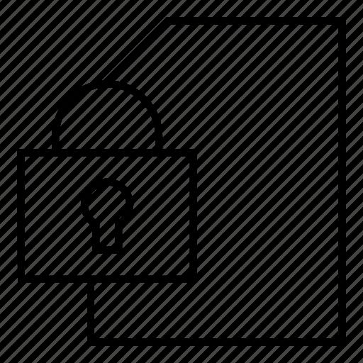 file, lock, locked, private icon