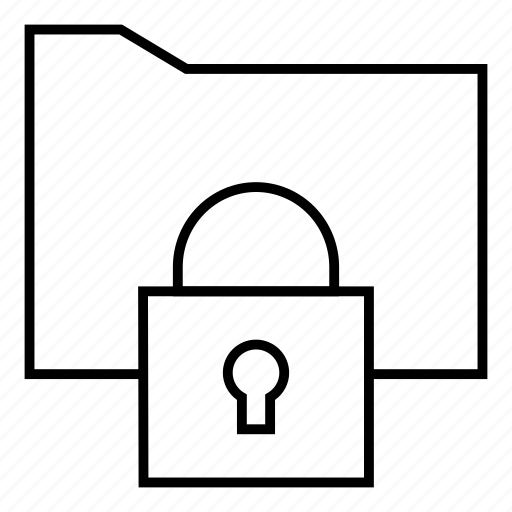 folder, locked, secret, security icon