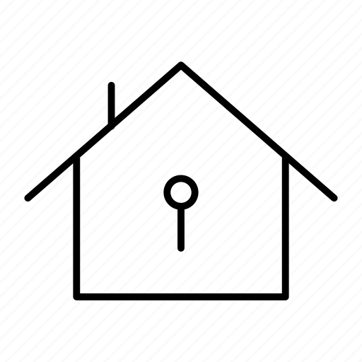 home, house, lock, security icon