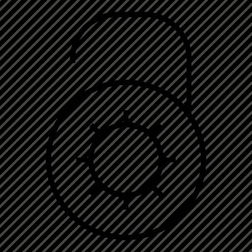 safety, secured, unlock, unlocked icon