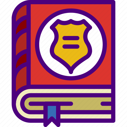 book, business, law, police, secure, security icon
