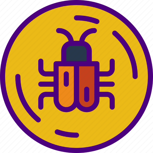 bug, business, code, police, secure, security icon