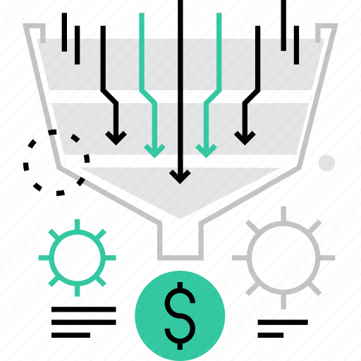 commerce, funnel, process, purchase, revenue, sales, shopping icon