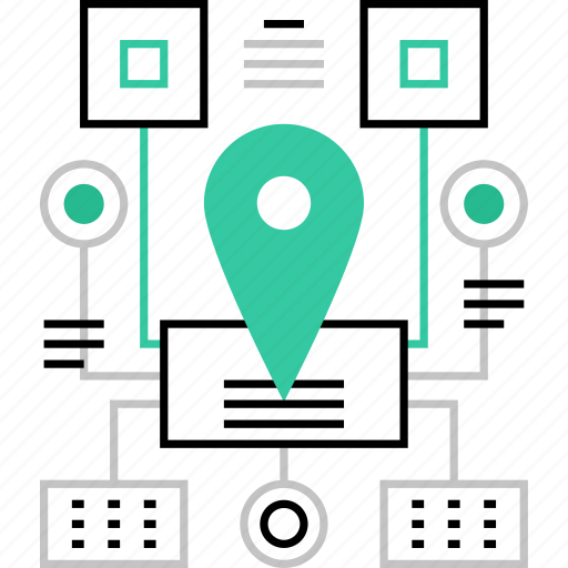 flowchart, map, menu, navigation, scheme, sitemap, structure icon