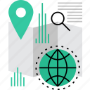 local, navigation, place, search, seo, tourism, worldwide icon