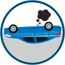 accidentes, auto insurance, car insurance, catastrophe, safe, seguro de automóviles, seguro de autos icon
