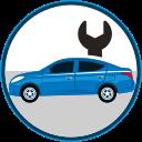 auto insurance, car insurance, seguro de autos, car repairs, mechanic, parts for cars icon