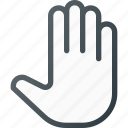cursor, grab, hand, hold, mouse, open icon