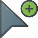 add, arrow, cursor, mouse, pointer
