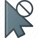 arrow, click, cursor, disable, mouse, pointer icon